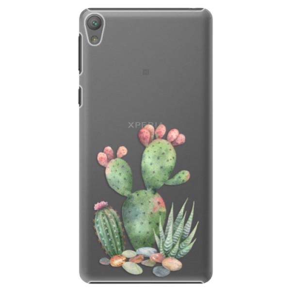 Plastové puzdro iSaprio - Cacti 01 - Sony Xperia E5