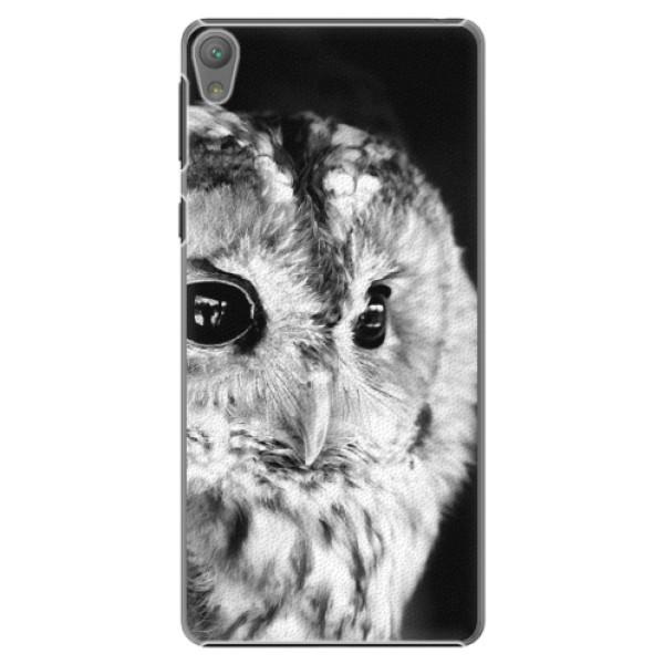 Plastové puzdro iSaprio - BW Owl - Sony Xperia E5