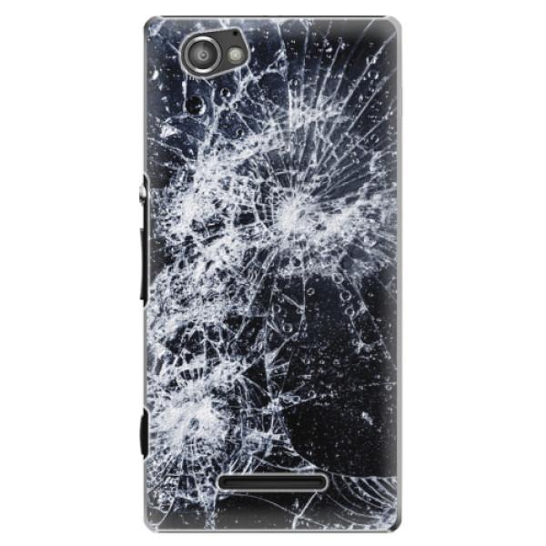Plastové puzdro iSaprio - Cracked - Sony Xperia M