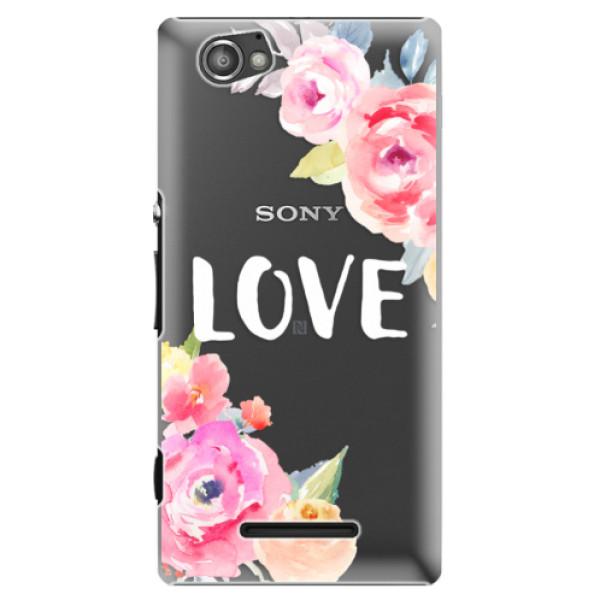 Plastové puzdro iSaprio - Love - Sony Xperia M