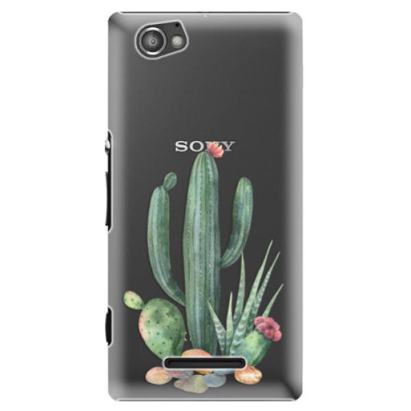 Plastové puzdro iSaprio - Cacti 02 - Sony Xperia M