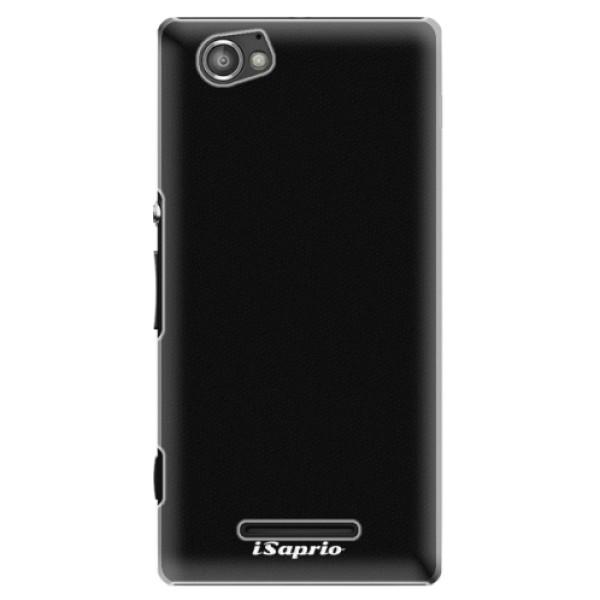 Plastové puzdro iSaprio - 4Pure - černý - Sony Xperia M