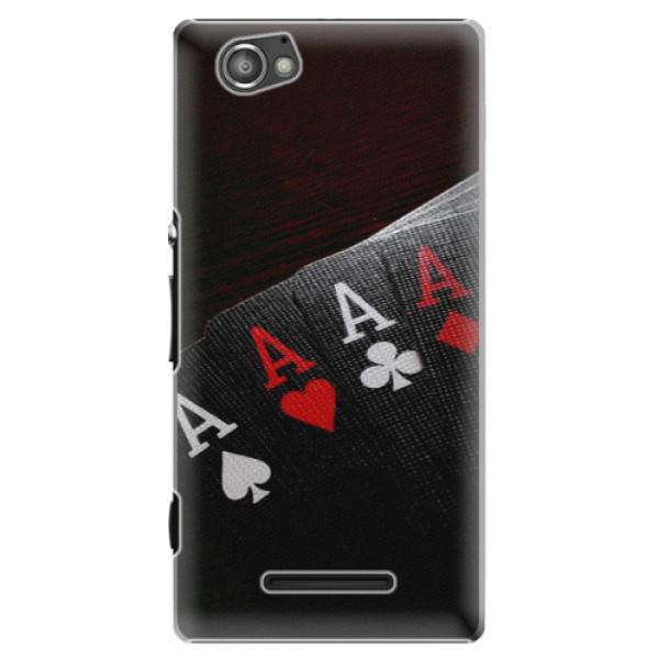 Plastové puzdro iSaprio - Poker - Sony Xperia M