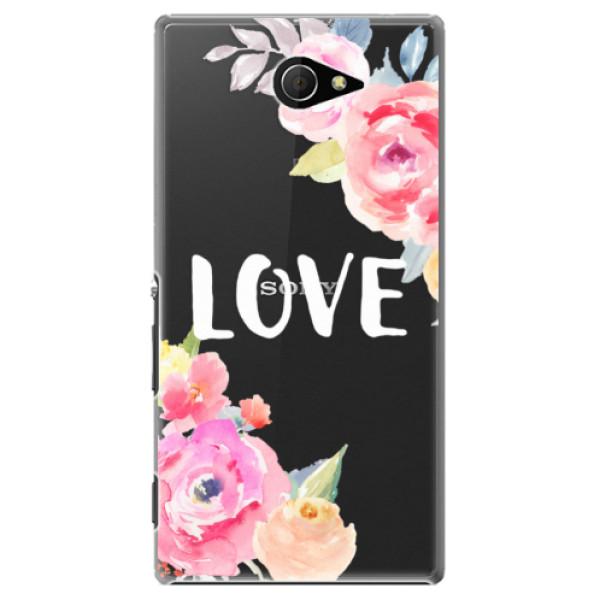 Plastové puzdro iSaprio - Love - Sony Xperia M2