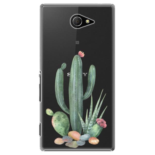 Plastové puzdro iSaprio - Cacti 02 - Sony Xperia M2