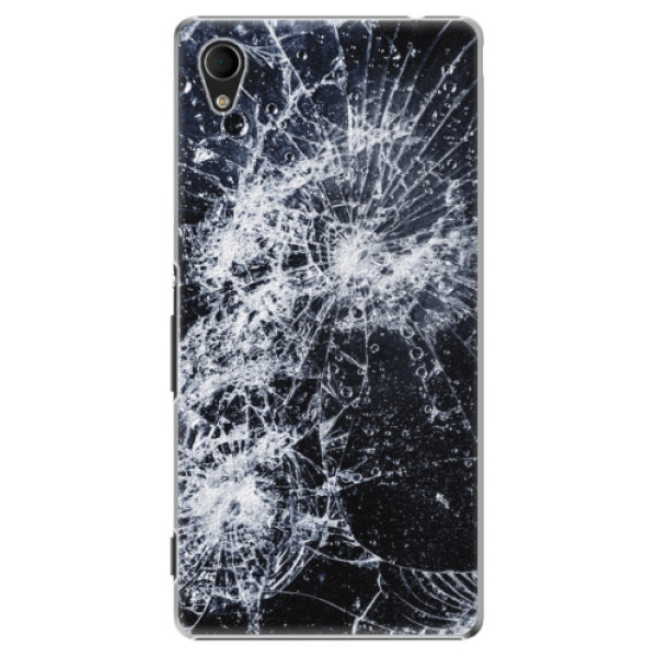Plastové puzdro iSaprio - Cracked - Sony Xperia M4