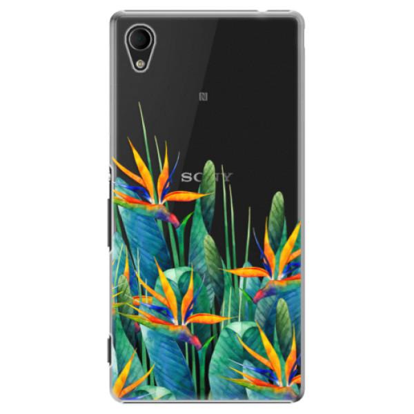 Plastové puzdro iSaprio - Exotic Flowers - Sony Xperia M4