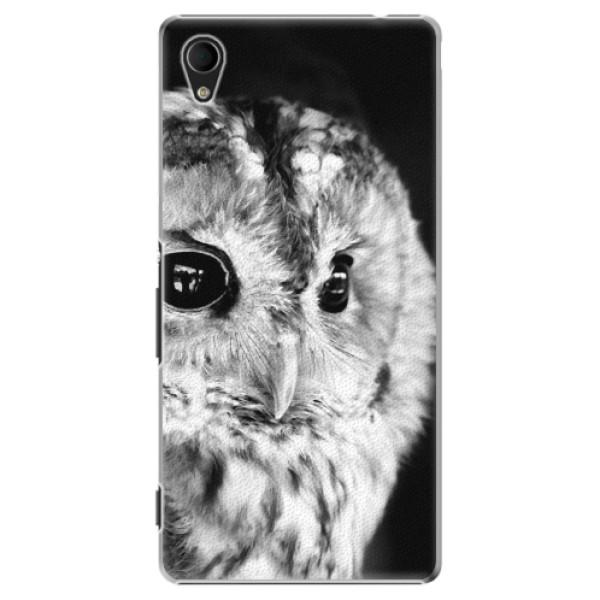 Plastové puzdro iSaprio - BW Owl - Sony Xperia M4