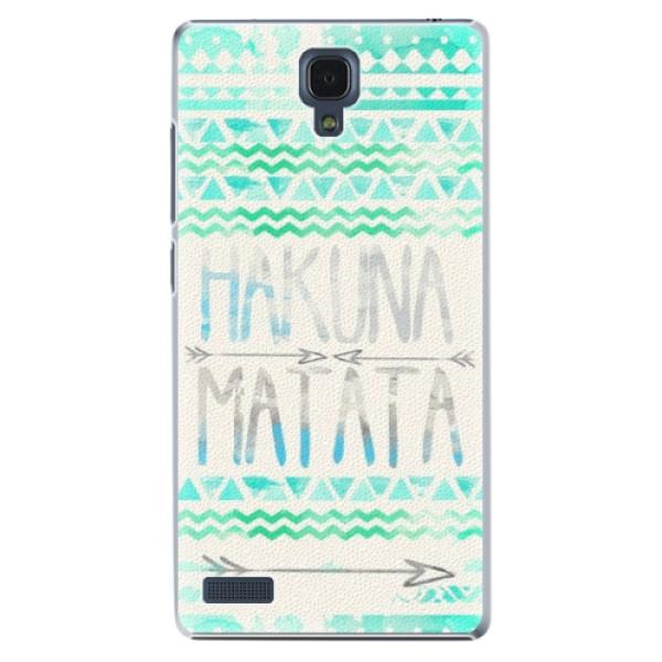Plastové puzdro iSaprio - Hakuna Matata Green - Xiaomi Redmi Note