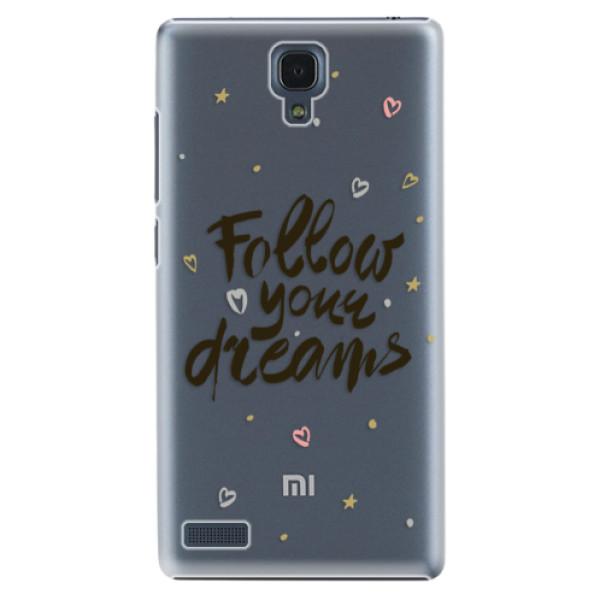 Plastové puzdro iSaprio - Follow Your Dreams - black - Xiaomi Redmi Note