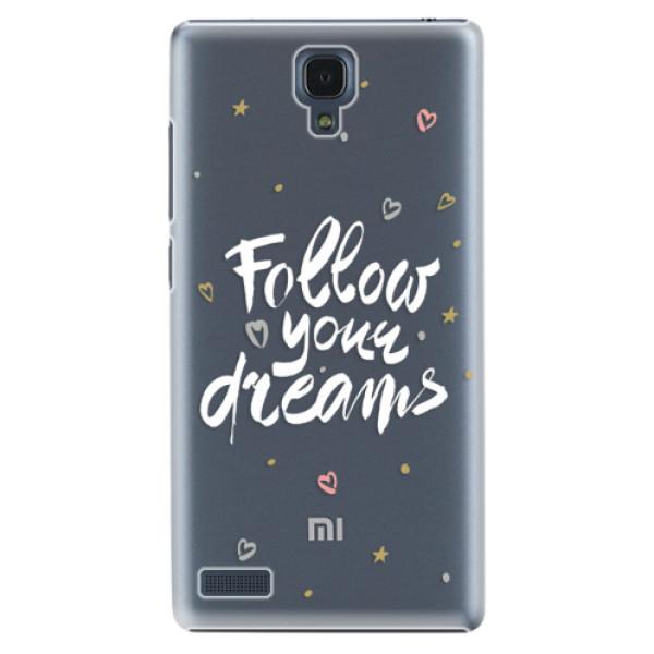 Plastové puzdro iSaprio - Follow Your Dreams - white - Xiaomi Redmi Note