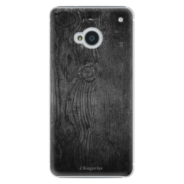 Plastové puzdro iSaprio - Black Wood 13 - HTC One M7