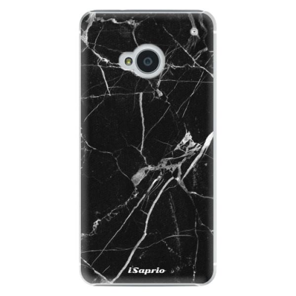 Plastové puzdro iSaprio - Black Marble 18 - HTC One M7