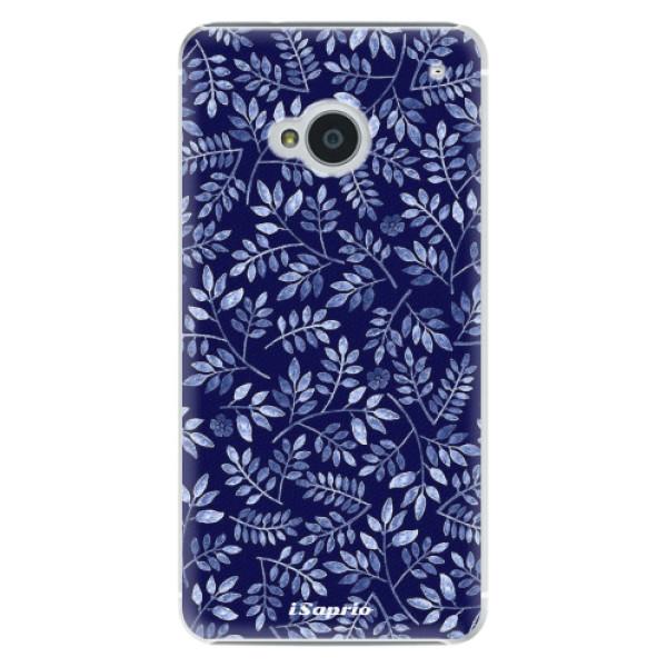 Plastové puzdro iSaprio - Blue Leaves 05 - HTC One M7