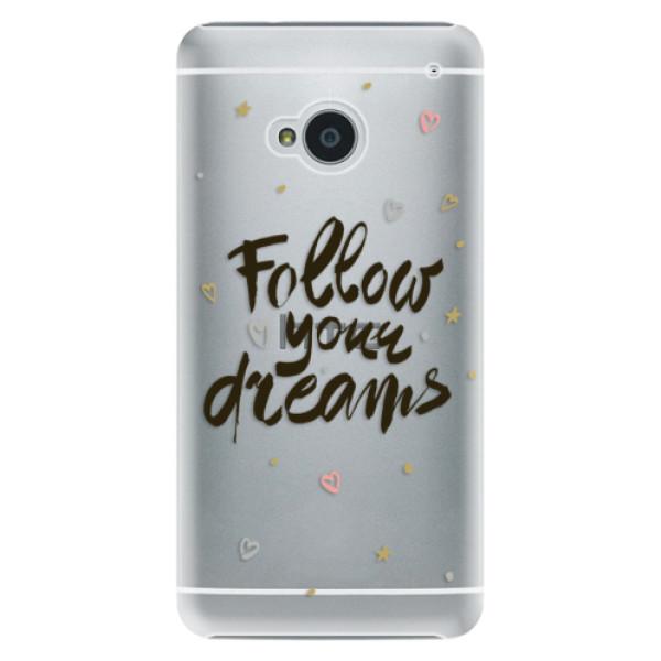 Plastové puzdro iSaprio - Follow Your Dreams - black - HTC One M7