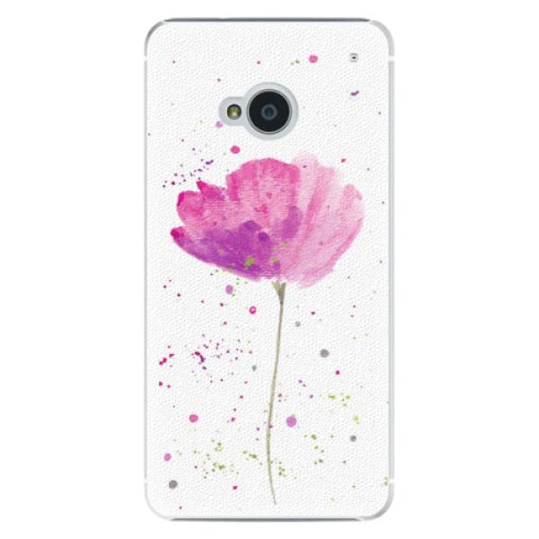 Plastové puzdro iSaprio - Poppies - HTC One M7