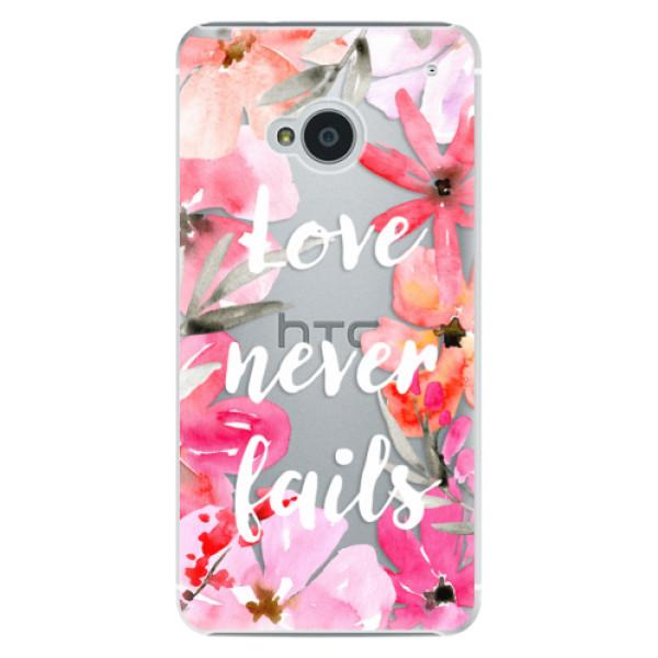 Plastové puzdro iSaprio - Love Never Fails - HTC One M7