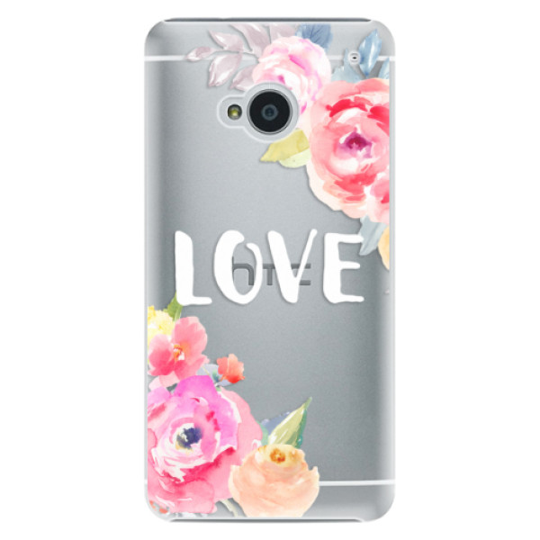 Plastové puzdro iSaprio - Love - HTC One M7
