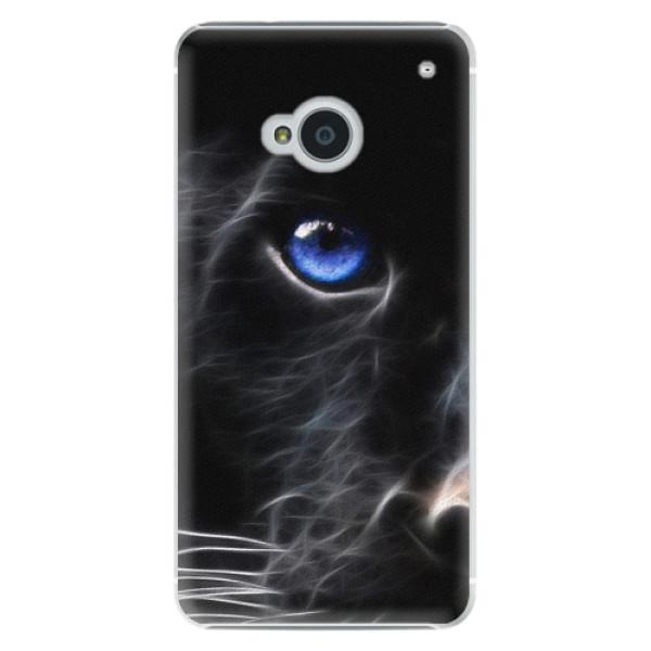 Plastové puzdro iSaprio - Black Puma - HTC One M7