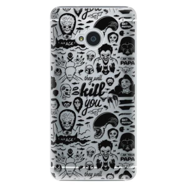 Plastové puzdro iSaprio - Comics 01 - black - HTC One M7