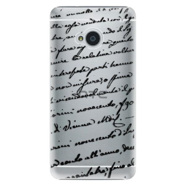 Plastové puzdro iSaprio - Handwriting 01 - black - HTC One M7