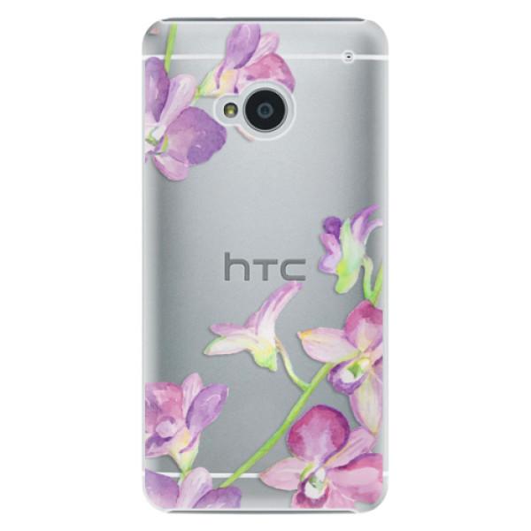 Plastové puzdro iSaprio - Purple Orchid - HTC One M7