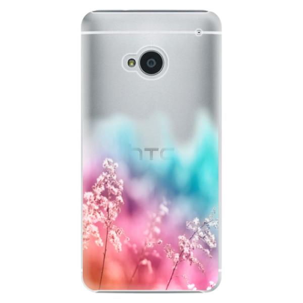 Plastové puzdro iSaprio - Rainbow Grass - HTC One M7