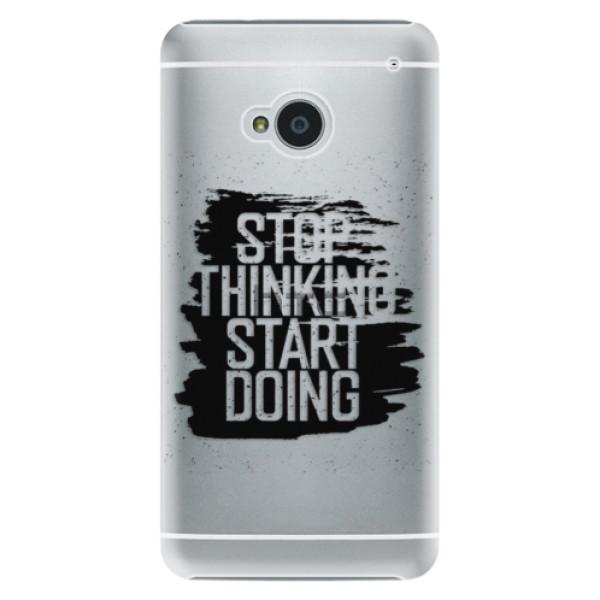 Plastové puzdro iSaprio - Start Doing - black - HTC One M7