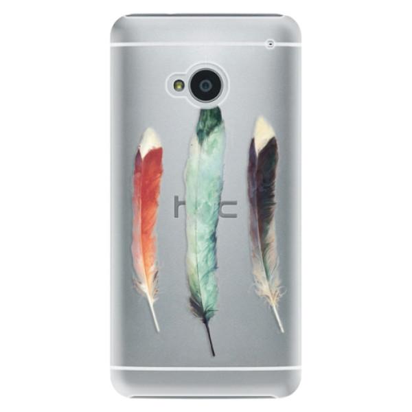 Plastové puzdro iSaprio - Three Feathers - HTC One M7