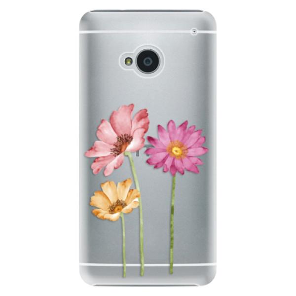 Plastové puzdro iSaprio - Three Flowers - HTC One M7