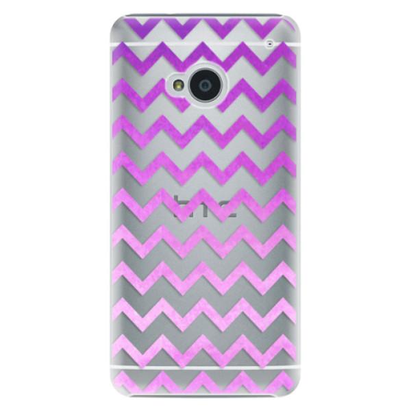 Plastové puzdro iSaprio - Zigzag - purple - HTC One M7