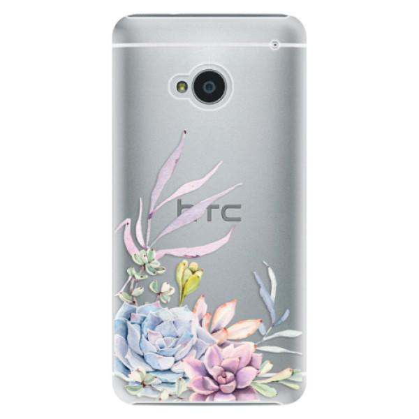 Plastové puzdro iSaprio - Succulent 01 - HTC One M7