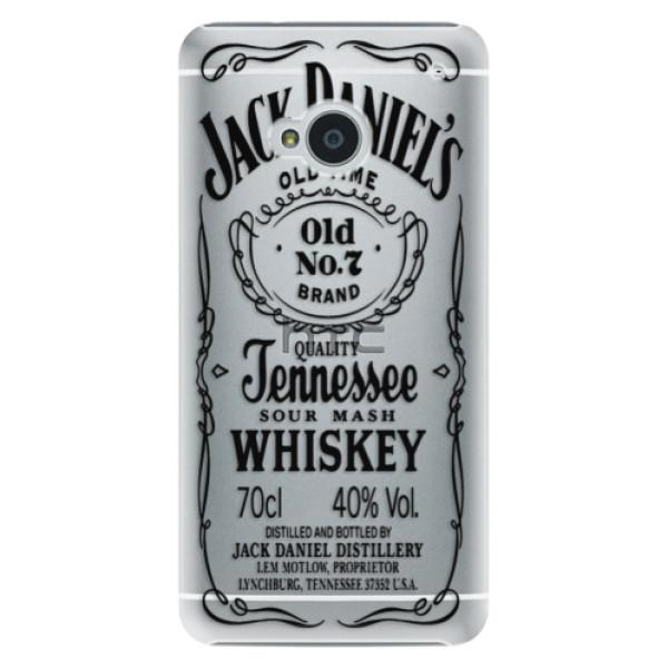 Plastové puzdro iSaprio - Transparent Black Jack - HTC One M7