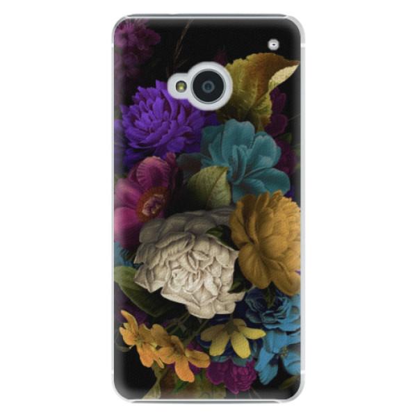 Plastové puzdro iSaprio - Dark Flowers - HTC One M7