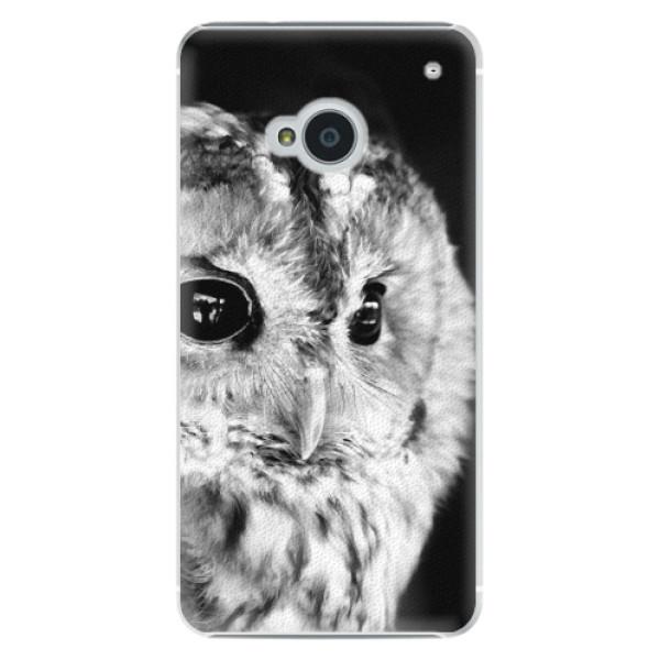 Plastové puzdro iSaprio - BW Owl - HTC One M7