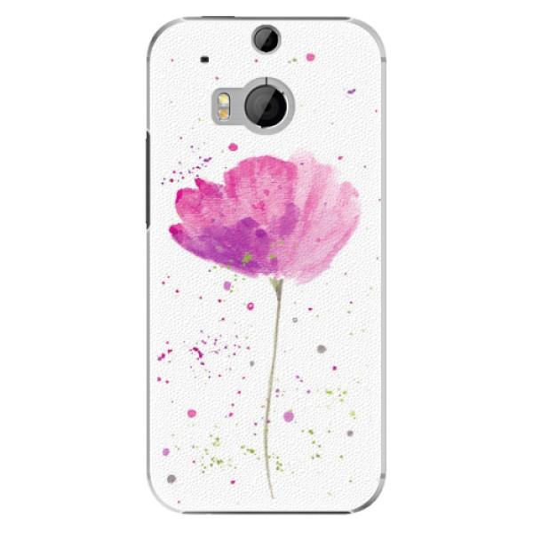 Plastové puzdro iSaprio - Poppies - HTC One M8