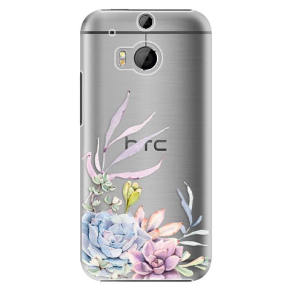 Plastové puzdro iSaprio - Succulent 01 - HTC One M8