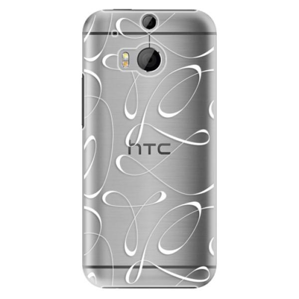 Plastové puzdro iSaprio - Fancy - white - HTC One M8
