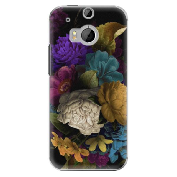 Plastové puzdro iSaprio - Dark Flowers - HTC One M8