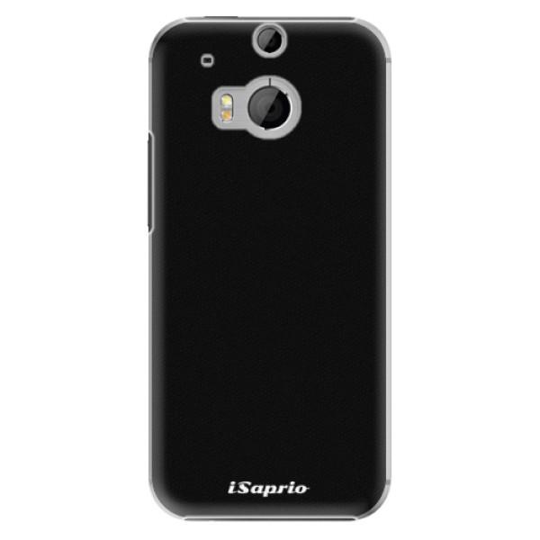 Plastové puzdro iSaprio - 4Pure - černý - HTC One M8