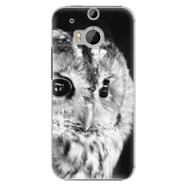 Plastové puzdro iSaprio - BW Owl - HTC One M8