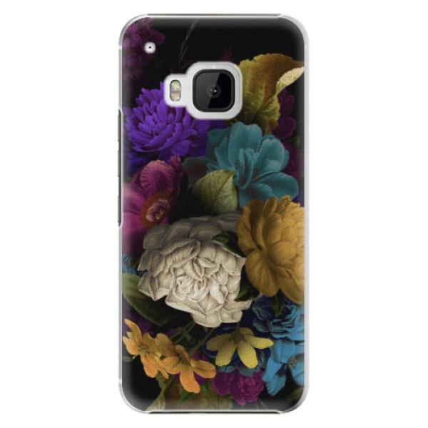 Plastové puzdro iSaprio - Dark Flowers - HTC One M9