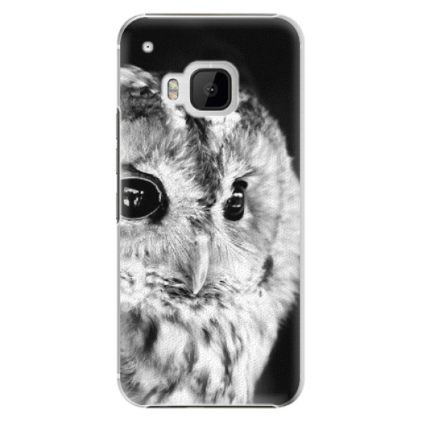 Plastové puzdro iSaprio - BW Owl - HTC One M9