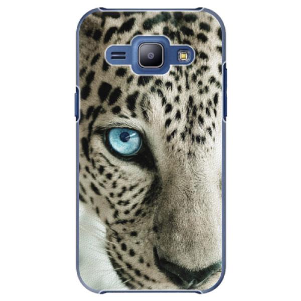 Plastové puzdro iSaprio - White Panther - Samsung Galaxy J1