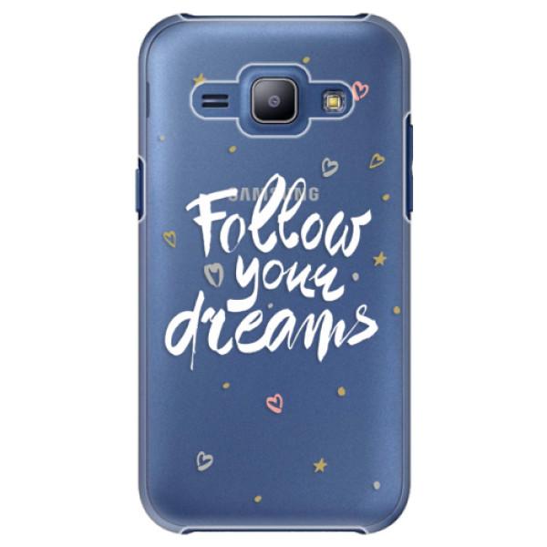 Plastové puzdro iSaprio - Follow Your Dreams - white - Samsung Galaxy J1
