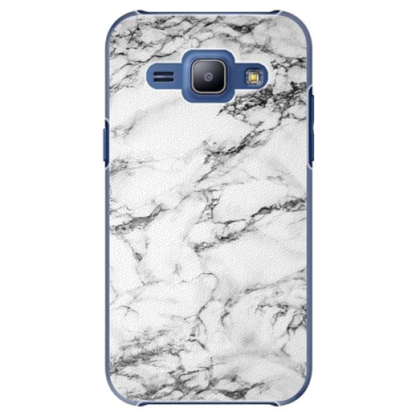 Plastové puzdro iSaprio - White Marble 01 - Samsung Galaxy J1
