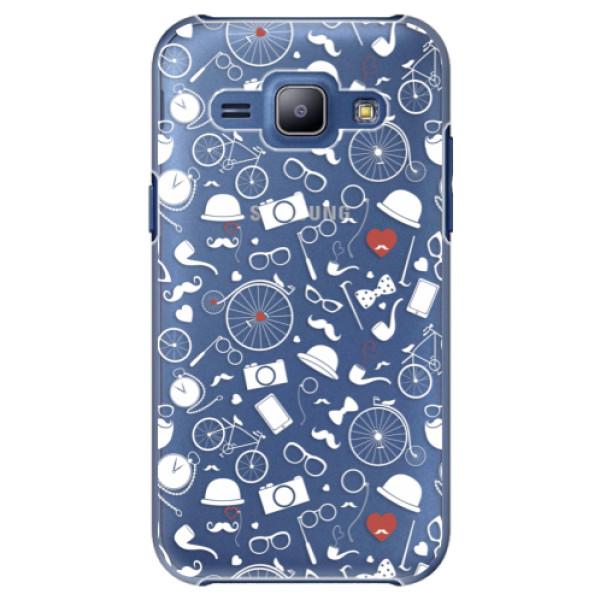 Plastové puzdro iSaprio - Vintage Pattern 01 - white - Samsung Galaxy J1