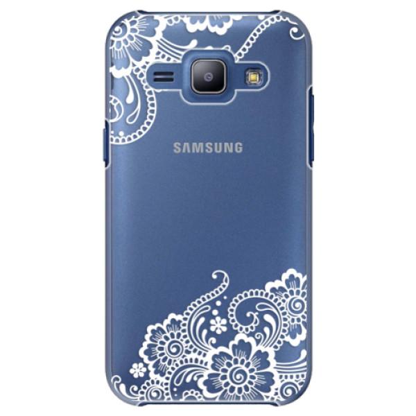 Plastové puzdro iSaprio - White Lace 02 - Samsung Galaxy J1