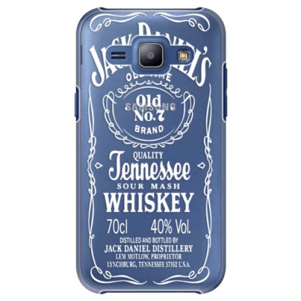 Plastové puzdro iSaprio - Transparent White Jack - Samsung Galaxy J1