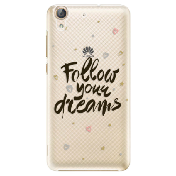 Plastové puzdro iSaprio - Follow Your Dreams - black - Huawei Y6 II